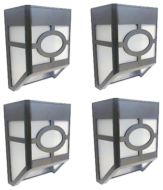 Solar-Powered Outdoor Landscape Lights, Set Of 4, White.
