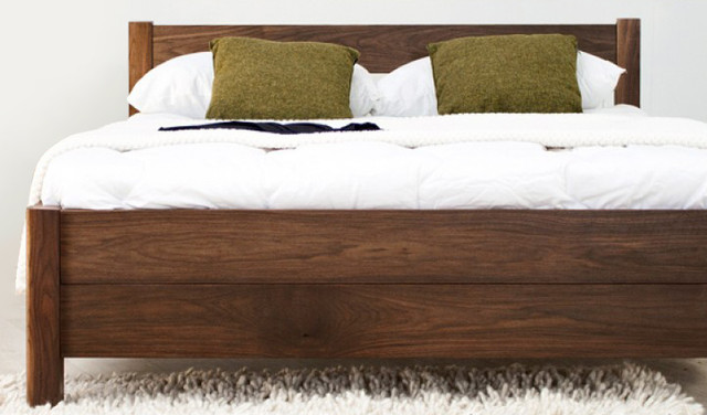 finland queen timber bed frame