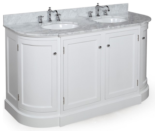 Rounded Bathroom Vanity Curved Bathroom Vanity | Ira Design