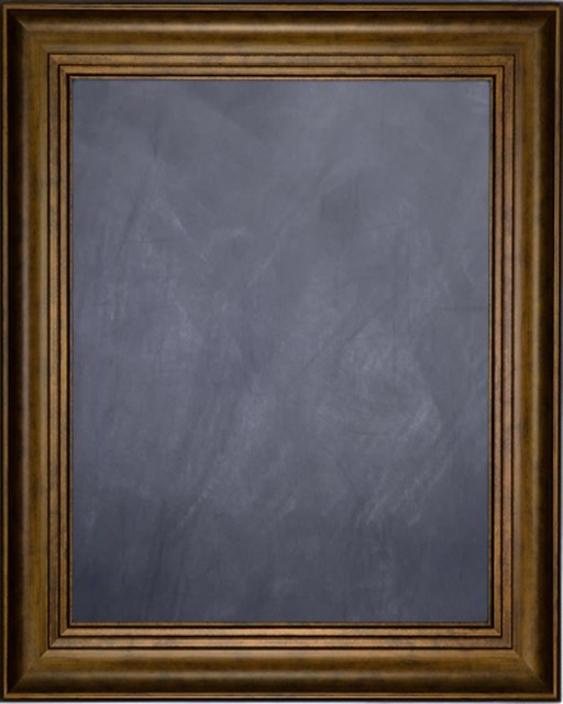 ff7af19419a Framed Chalkboard With Dark Gold Finish Frame With Triple Step Lip - Modern  - Bulletin Boards And Chalkboards - by Print Oyster