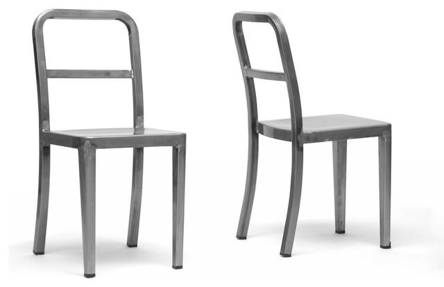 Echo Dining Chair in Gunmetal (Set of 2)