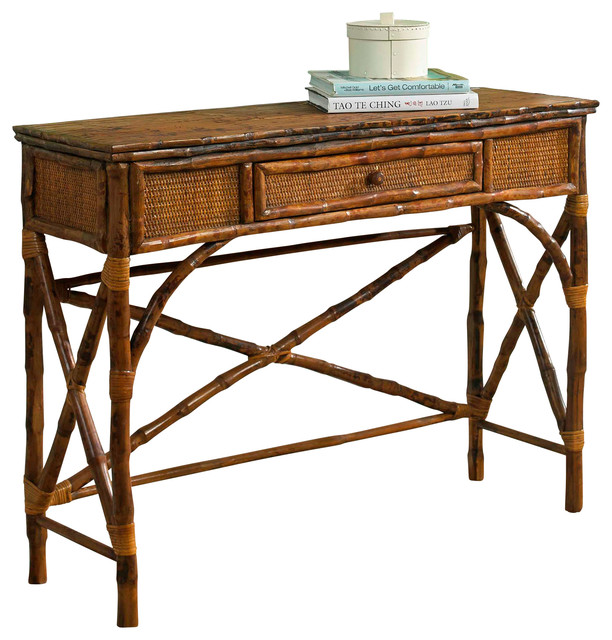 Kenian English Console Table Antiqued Tortoise View