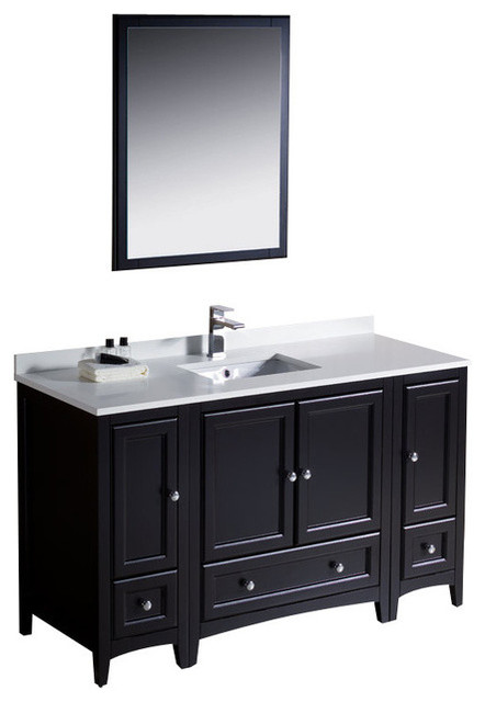 Shop houzz fresca 54 single sink bathroom vanity bathroom vanities and sink consoles for Single sink consoles bathroom