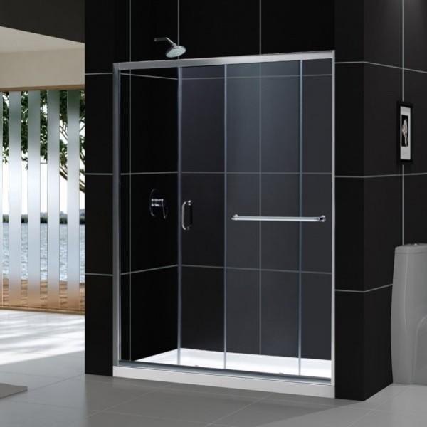 Dreamline Frameless Sliding Shower Door And Threshold Base Center