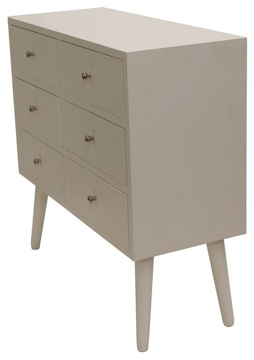 Wooden Standard Accent Cabinet With 6 Drawer