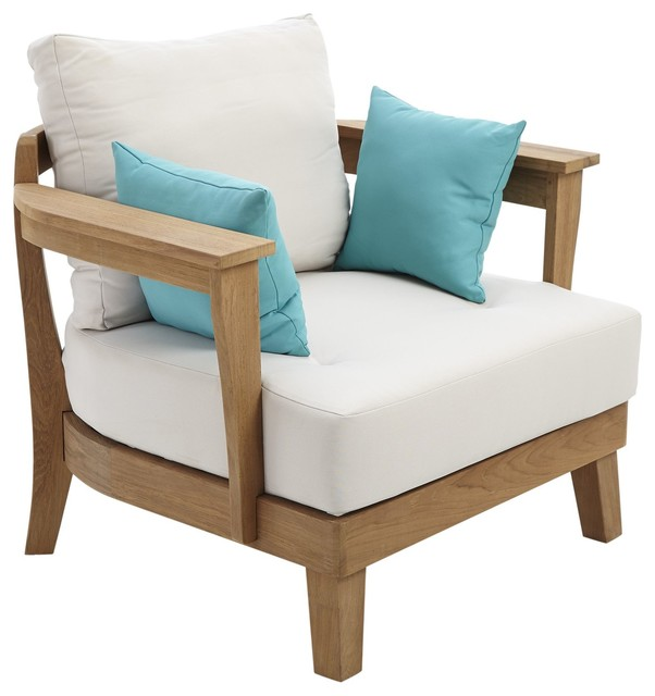 Roscana Wooden Coffee Chair Part Of Set Contemporary Garden Lounge Chai
