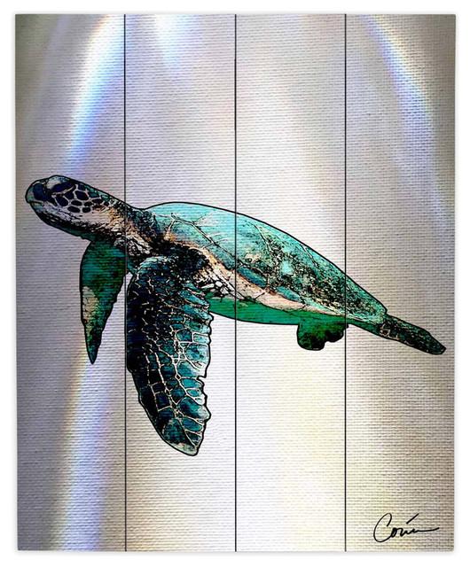 Wood Plank Wall Art dianoche wood plank wall artcorina bakke - sea turtle ii