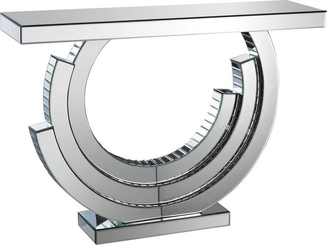 Layered Crescent Mirrored Console, 173-014.