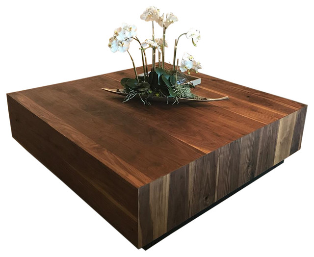 Black Walnut Coffee Table Modern Eclectic Solid 36 X36 X18