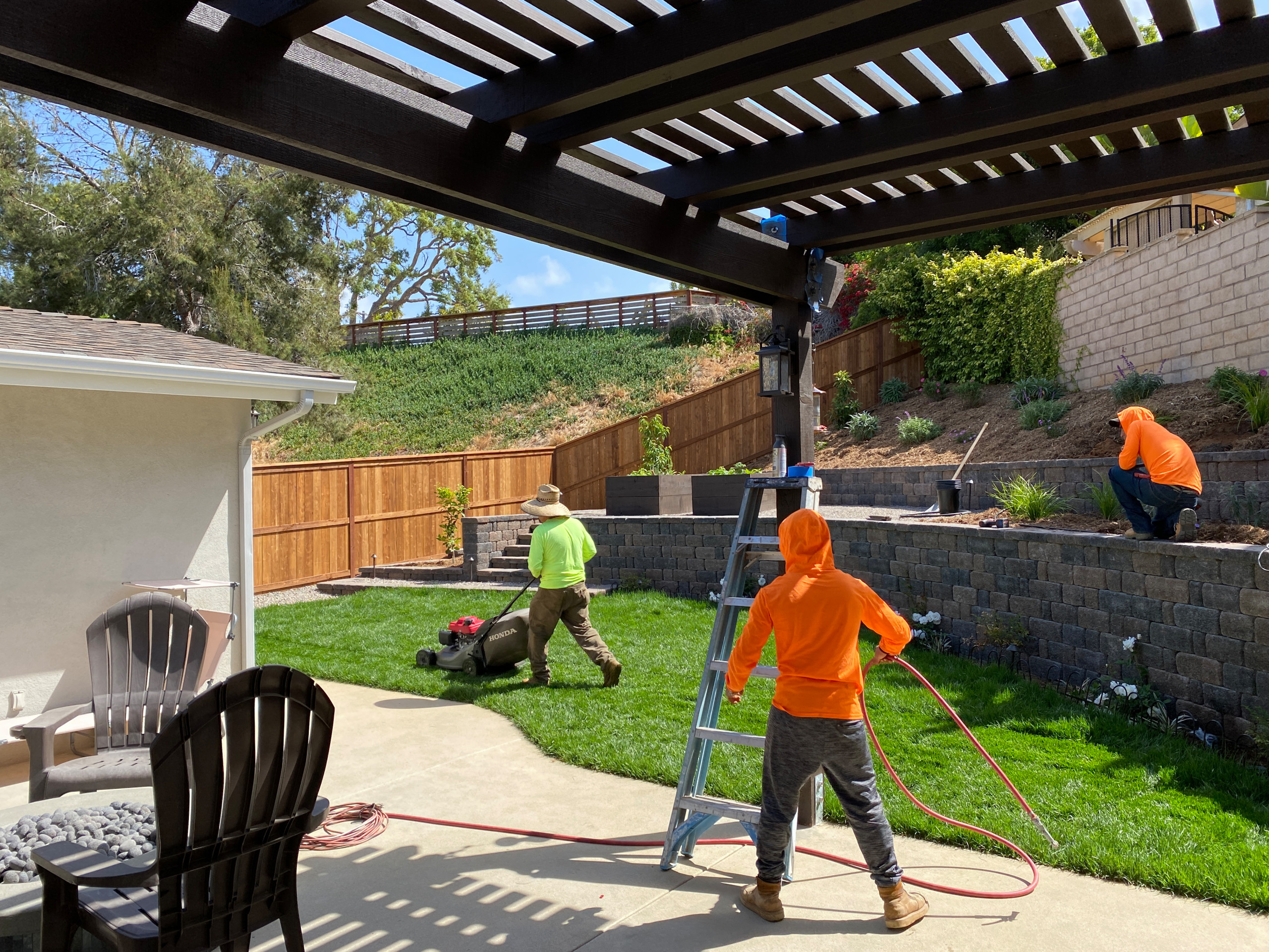 Finishing up a Full Backyard Remodel in Carlsbad North