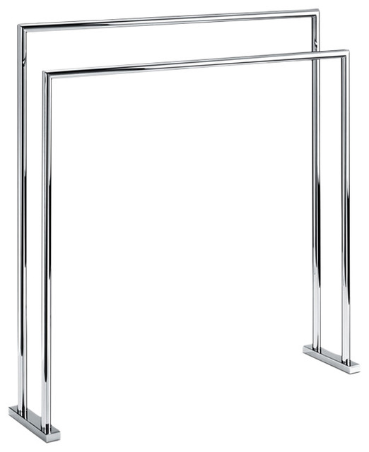 Dw Ht 5 Free Standing Towel Stand In Chrome Contemporary
