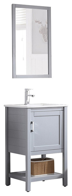 Blossom Lucca 20 Vanity Set, Metal Gray.