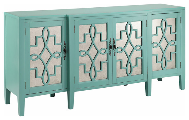 Stein World Lawrence Cabinet, Turquoise - Buffets And Sideboards | Houzz