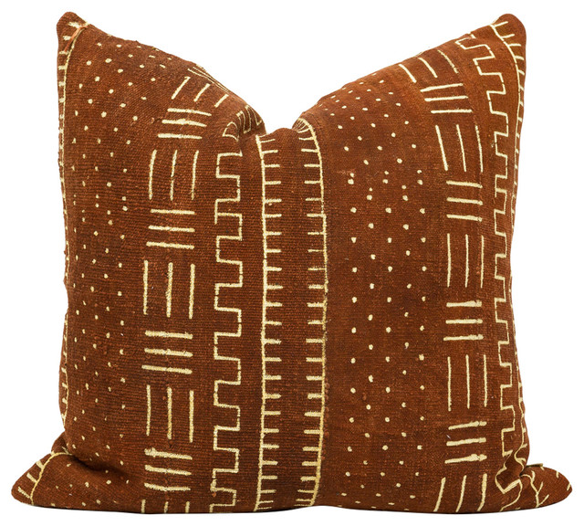 Guna African Mud Cloth Pillow Contemporary Decorative