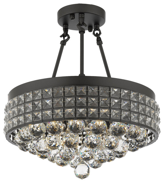 Semi Flush Mount French Empire Crystal Chandelier With Mm Crystal