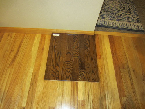 Was Thinking Of Going With A Darker Stain On The Floor But When I Got Sample Wonder How It Looks 90s Honey Oak Trim