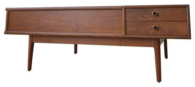 kipp stewart for drexel walnut coffee table