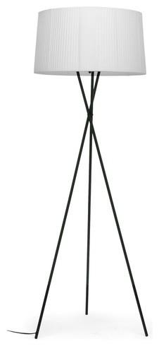 Throop White Modern Tripod Floor Lamp
