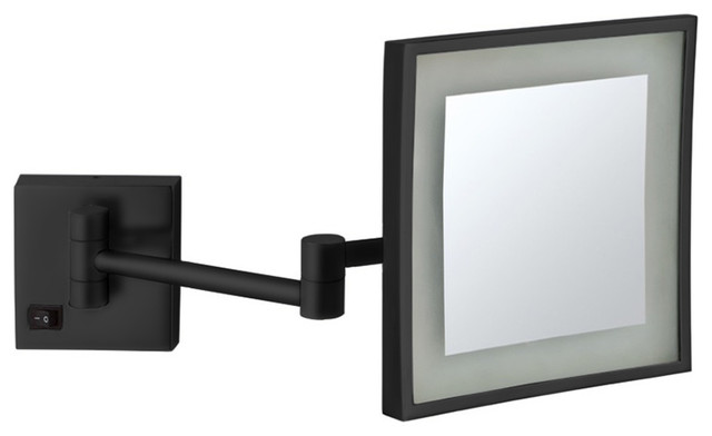 Matte Black Square Wall Mounted Led 5x
