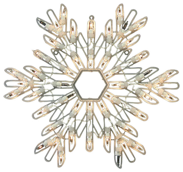 15 Lighted Shimmering Snowflake Christmas Window Silhouette Decoration.