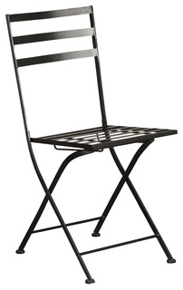 Concepts 4D Concepts Metal Chairs, Black, Set of 2 - Outdoor Folding ...