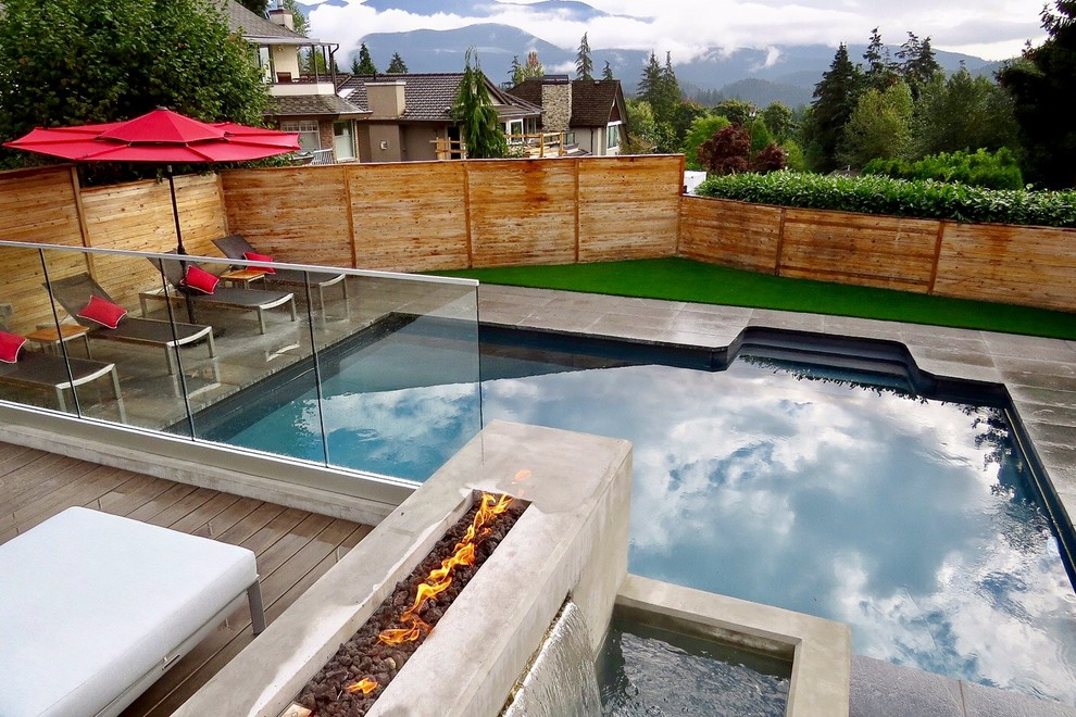 Inspiration for a contemporary home design remodel in Vancouver