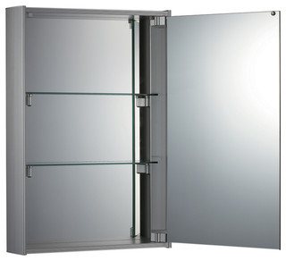 Shop Houzz | Whitehaus Collection Vertical Double Faced Mirrored Door Medicine Cabinet ...