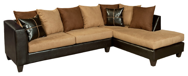 flash furniture riverstone sierra chocolate microfiber sectional sectional sofas