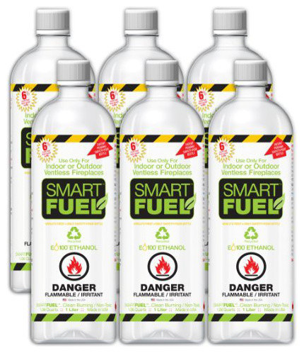 Anywhere Fireplace Bio Ethanol Smart Fuel 6/12 Liter Pack.