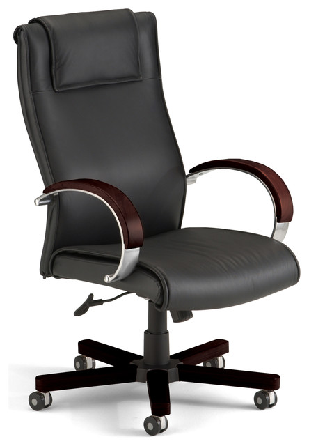 Apex High Back Leather Swivel Chair Contemporary