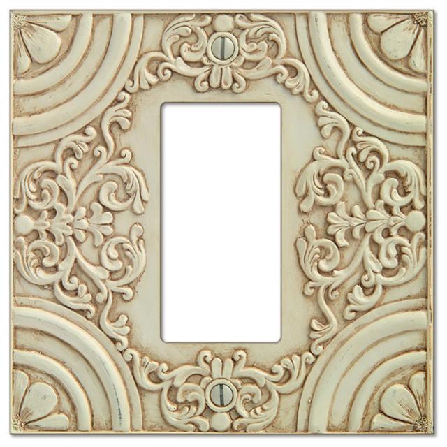 canterbury white resin 1rocker wall plate