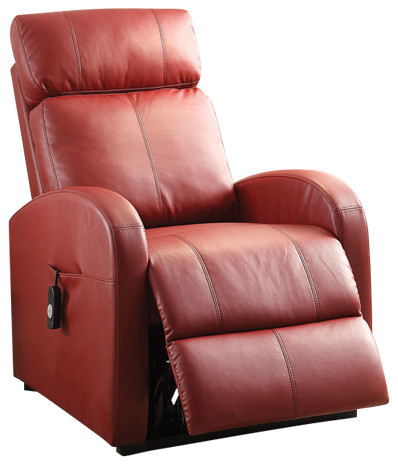 Acme Ricardo Recliner With Power Lift, PU - Contemporary - Recliner ...