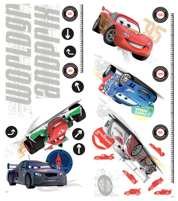 Disney Cars Growth Chart Wall Decals Contemporary Kids Wall