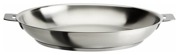 "Cristel Strate Removable Handle, 7.87"" Stainless Steel Frying Pan."