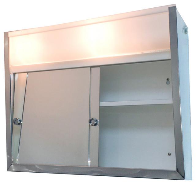 Sliding Door Series Medicine Cabinet, Led