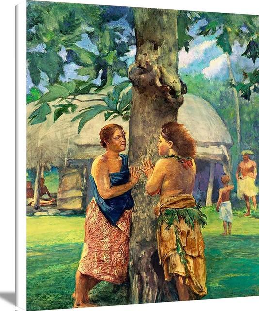 Portrait Of Faase The Taupo Of Fagaloa Bay Samoa By John