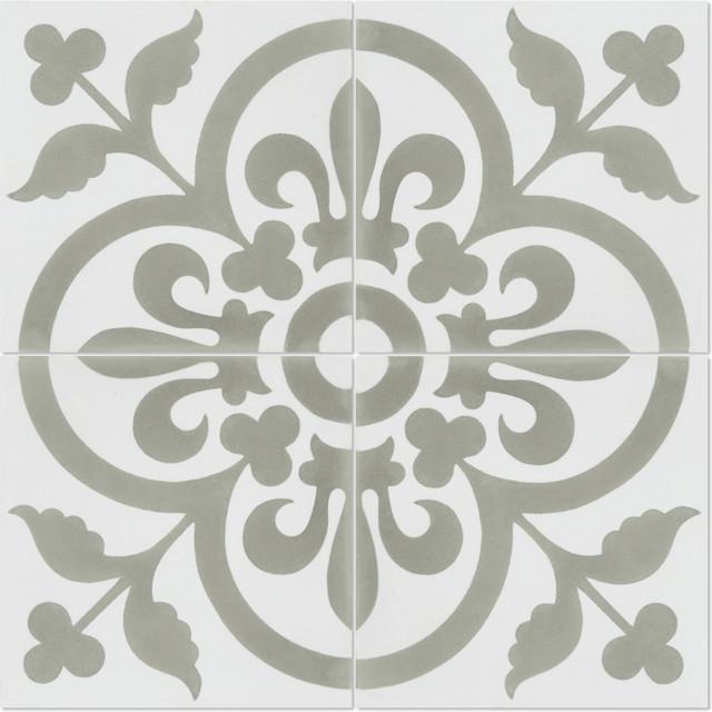 Raylen Handcrafted Cement Tiles, Box of 12 Tiles