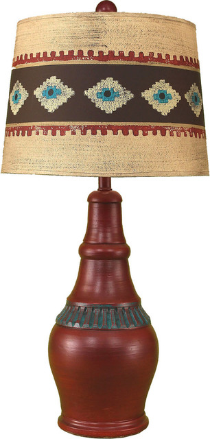 Casual Pot with Ribbed Accent Southwestern Table Lamps  : southwestern table lamps from www.houzz.com size 306 x 640 jpeg 56kB