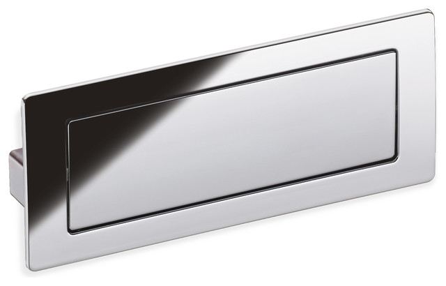 Schwinn Z075 Covered Flush Pull Polished Chrome 128mm Contemporary Cabinet And Drawer Handle Pulls By