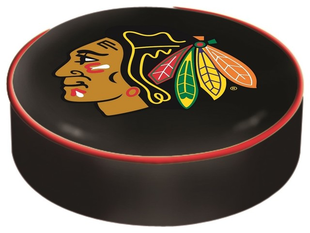 Chicago Blackhawks Black Bar Stool Seat Cover by Covers by  : contemporary seat cushions from houzz.co.uk size 640 x 482 jpeg 49kB