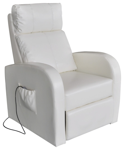 Lovely VidaXL White Electric Massage Chair With Remote Control Contemporary Massage  Chairs