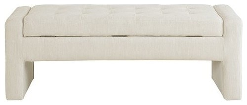 Gillian Storage Bench, Cream