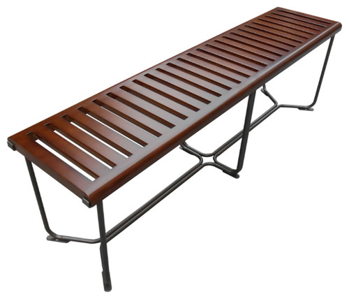 Fine Mod Imports Solid Bench 60, Brown