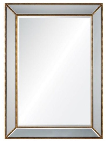 Distressed Gold Leaf Mirror By Barclay Butera