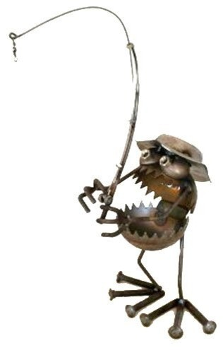 Sugarpost Gnome Be Gone Deep Sea Fisherman Welded Metal Art
