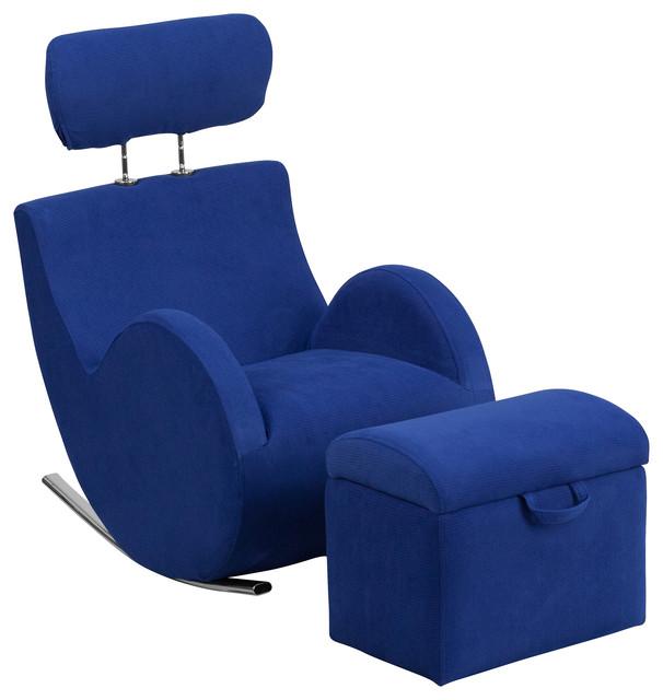 Flash Furniture Hercules Series Beige Fabric Rocking Chair