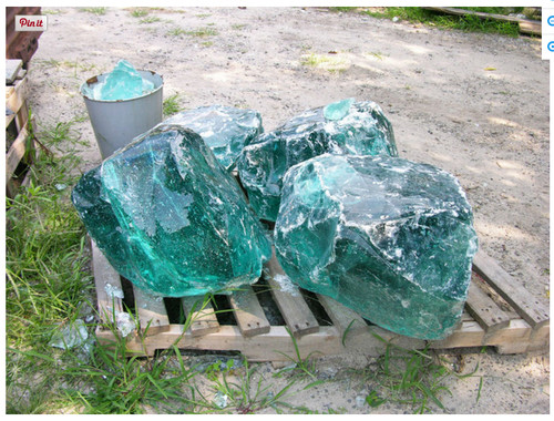 Need A Large Chunk Of Glass Slag For My Garden