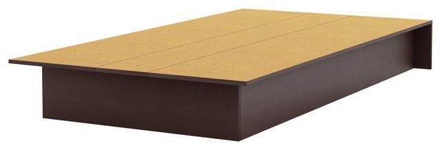 South Shore Libra Twin Platform Bed 39&x27;&x27;, Chocolate.