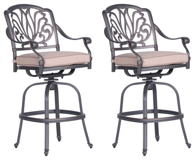 Incredible Athens Bar Stool With Cushion Set Of 2 All Weather Modern Bar Stools Squirreltailoven Fun Painted Chair Ideas Images Squirreltailovenorg