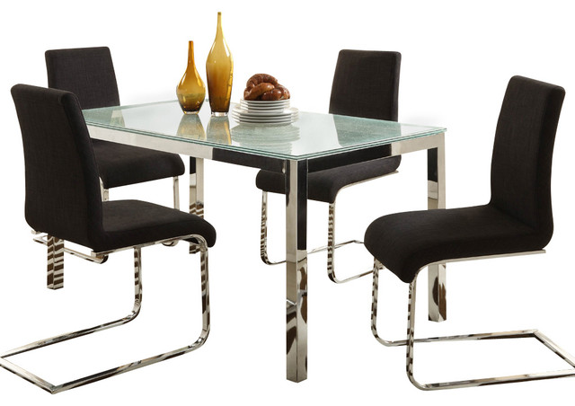 Homelegance Homelegance Knox 5 Piece Crackle Glass Top  : contemporary dining sets from www.houzz.com size 640 x 452 jpeg 55kB